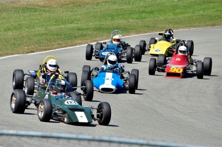 A typical Formula Ford battle for the lead; this time it was at the 2012 BCHMR - Jim Moody photo