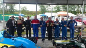 Tom Johnston and Formula Ford drivers: Craig Archer, Doug Floer, Felim Power, Alan Baker, Alan McColl, Doug Lorraine, Al Cruickshank and Jim Crittenden - Tom Johnston photo